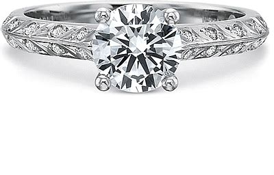leaf pattern diamond ring precision set leaf pattern diamond engagement ring 7261