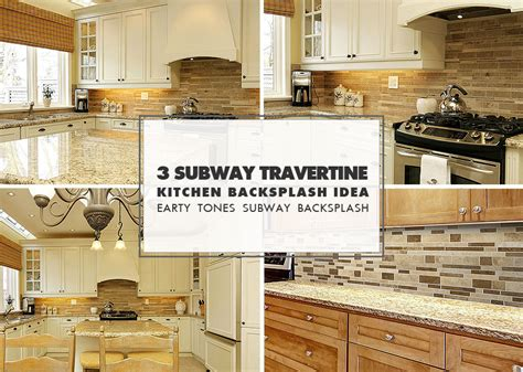 brown travertine backsplash tile subway plank design