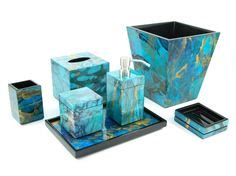 ocean blue bathroom accessories bathroom ideas sea on pinterest ocean themed rooms