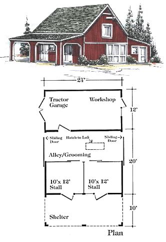 house and barn combination plans gunadi za