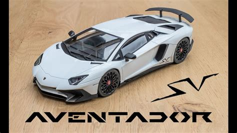 Sv White 1 18 lamborghini aventador sv white kyosho ousia unboxing and review