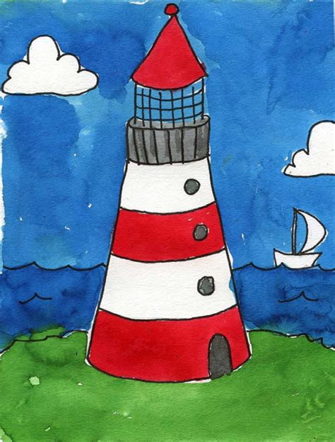 drawing crafts for lighthouse projects for