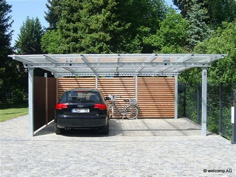 carports stahl carport metall stahl pultdach 01 pictures