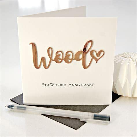wood 5th wedding anniversary card shop hummingbird card company