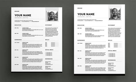 Indesign Resume by Adobe Indesign Resume Resume Ideas