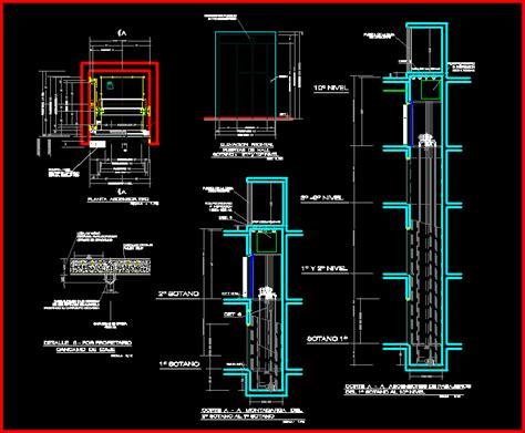 details elevator dwg detail  autocad designs cad