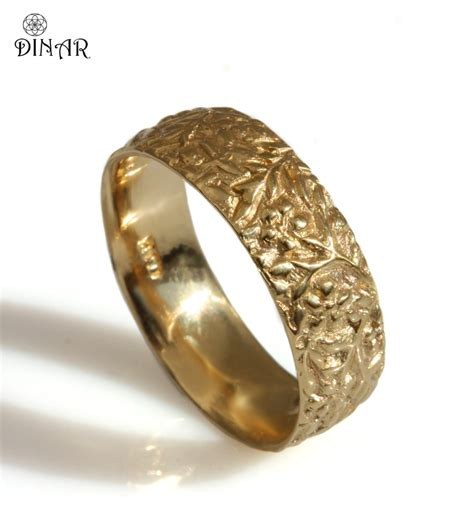 thick s wedding band 14k solid yellow gold ring