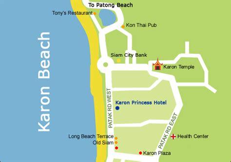 karon resort map karon princess hotel map phuket hotels discount hotels