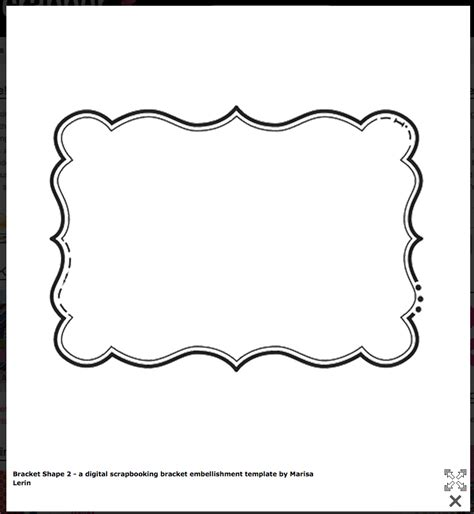fancy card template idea bracket shape free templates cards envelopes