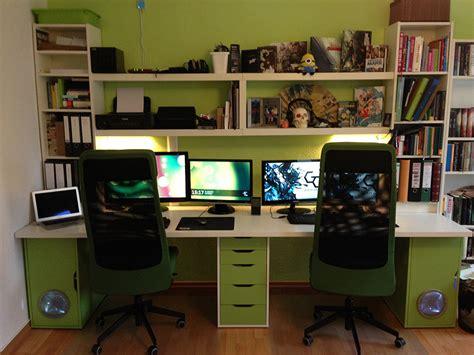 ikea hack computer desk best cabinets with kallax joy studio design gallery