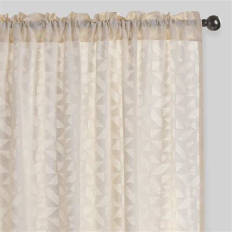 sheer cotton curtains geo cutwork sheer cotton curtains set of 2 world market