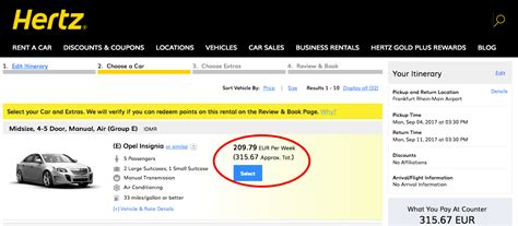 Car Rental For A Week Award Success Redeeming Hertz Loyalty Points For A One