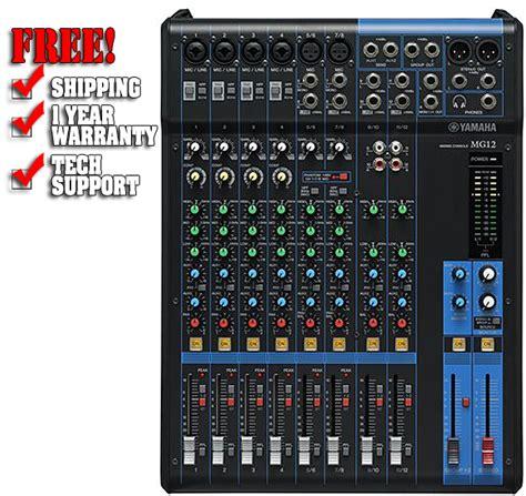 Audio Mixer Yamaha Mg 12 Xu yamaha mg12 12 input live sound console mixer