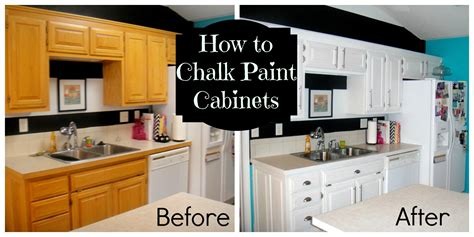diy painting oak kitchen cabinets with white chalk paint before and after with door