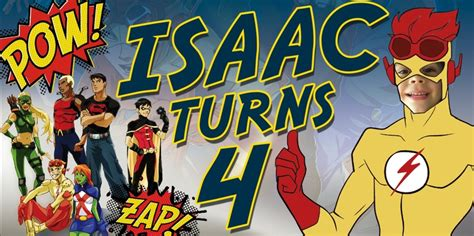 banner young justice kids party birthday theme