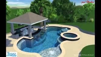 pool house with bar swim up bar pool