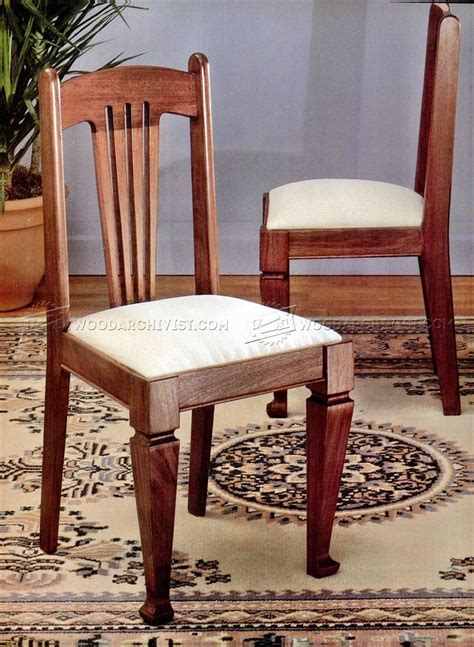 Wooden Dining Chair Plans Dining Chair Plans Woodarchivist