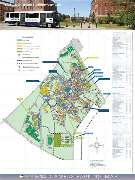 Georgia Southern Campus Map   World Map 07