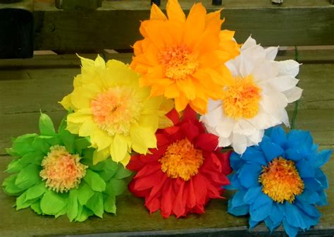 How To Make Mexican Flowers From Crepe Paper - mexican paper flowers set of 6 multicolor we make