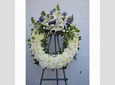 wreath funeral in white and blue (fe12) Fleur De Lis ... 1 800 Flowers Review Yelp