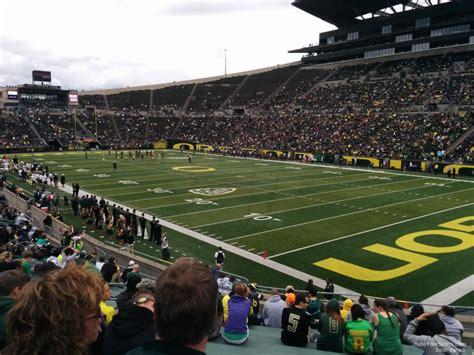 autzen stadium student section autzen stadium section 5 rateyourseats com