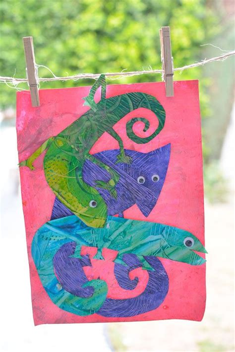 eric carle chameleon template the world s catalog of ideas