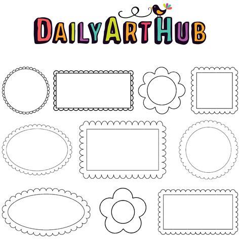 daily doodle shop doodle frames clip set daily hub free clip
