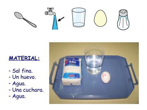 experimento agua con sal experimento con agua salada