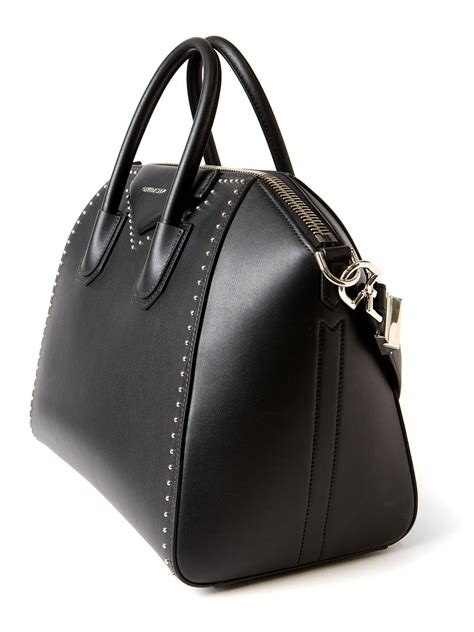 New Givenchy Antigona Studded givenchy antigona medium studded tote in black lyst