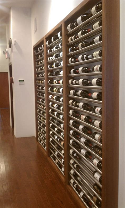contemporary metal wine racks building wine cellars with