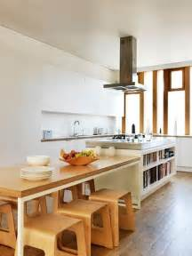 narrow kitchen island table the idea of a table connected to an island great