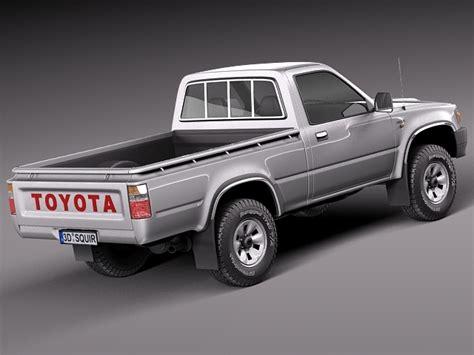 Toyota 1989 Models Toyota Hilux Regular Cab 1989 1997 3d Model Max