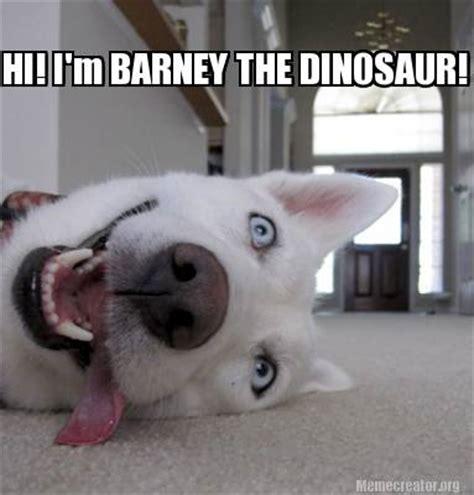 Barney The Dinosaur Meme - meme creator hi i m barney the dinosaur meme generator