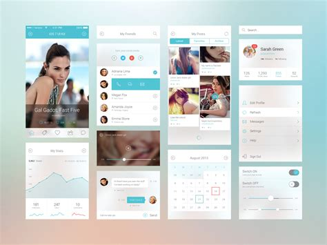 mobile layout design inspiration ios 7 ui components graphicburger