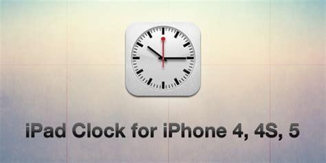 themes clock iphone ios6 ipad clock for iphone 4 4s 5 by elpiimsguajee on