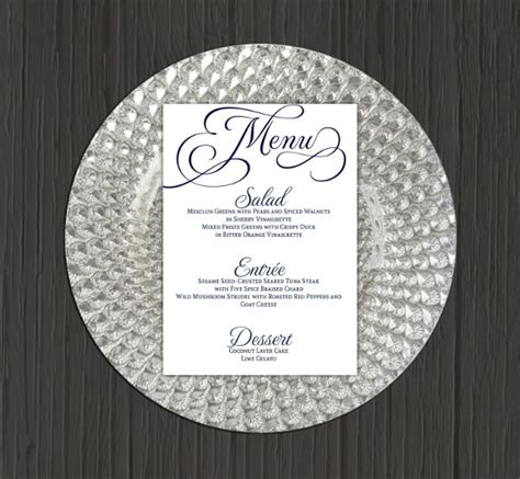Free Printable Menu Templates For Wedding by Wedding Menu Templates 52 Free Word Pdf Psd Eps