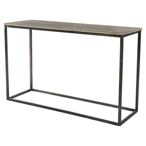 wood and metal console table elgar industrial lodge metal wood console table kathy