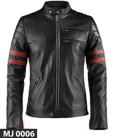Jual Penawaran Terbaik Jaket Bomber Pria By Bravo Projects jaket kulit stripe mj 0006 cowok banget