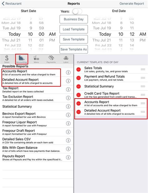 Opening Day Ending Day Walk Through Touchbistro Restaurant End Of Shift Report Template