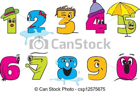 Number Drawing 0 To 9 by Vectors Illustration Of Happy Colorful Numbers 0 9 Happy