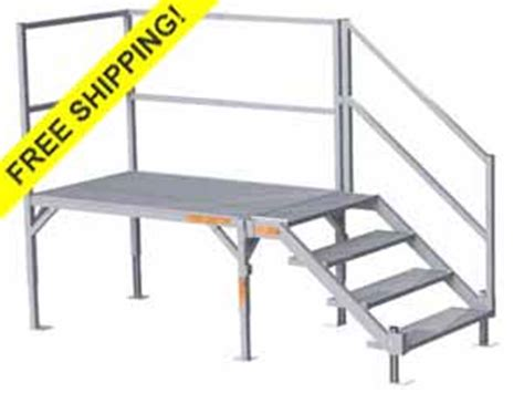 Landing Handrail Height Osha Stairs Portable Steps Trailer Steps Building Metal