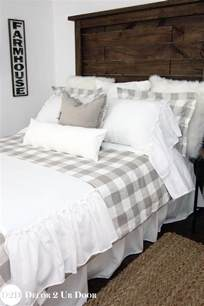 home design bedding down alternative farmhouse tan gingham check plaid custom designer duvet cover