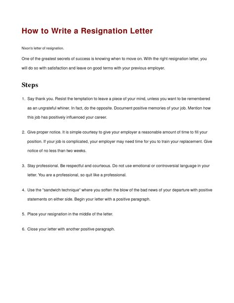 how to prepare a letter of resignation how to properly write a letter of resignation resume