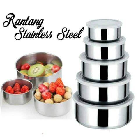 jual beli rantang 5 susun stainless protect fresh box