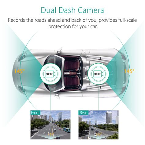 dash dual mini dvr system mini 0906 dual hd 1080p car dash gps dvr rear