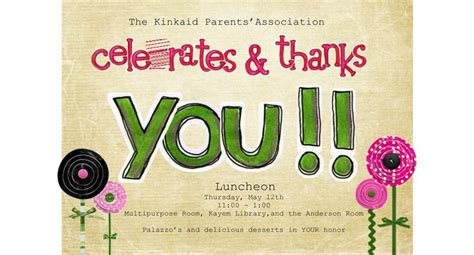 Sle Appreciation Luncheon Invitation Appreciation Dinner Invitation Template