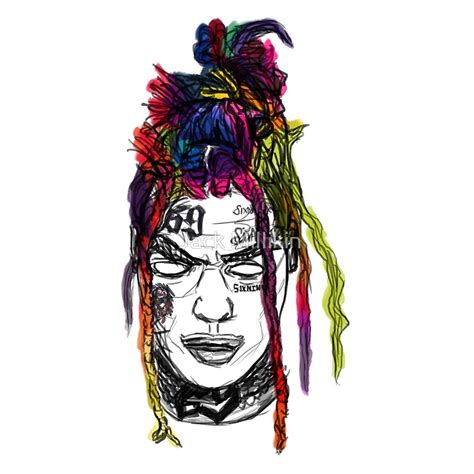 6ix9ine drawing quot tekashi 6ix9ine quot by raspberry the artist redbubble