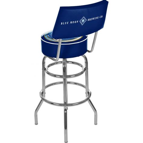 padded bar stools with backs blue moon padded bar stool with back