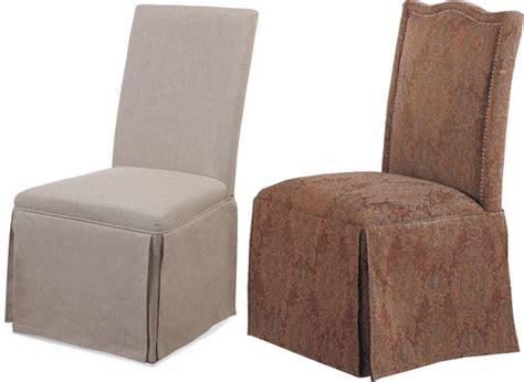 Skirted parsons chairs