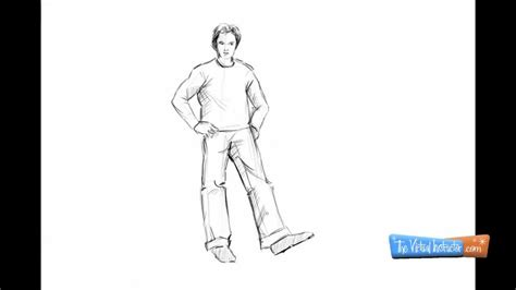 how to draw person how to draw person standing
